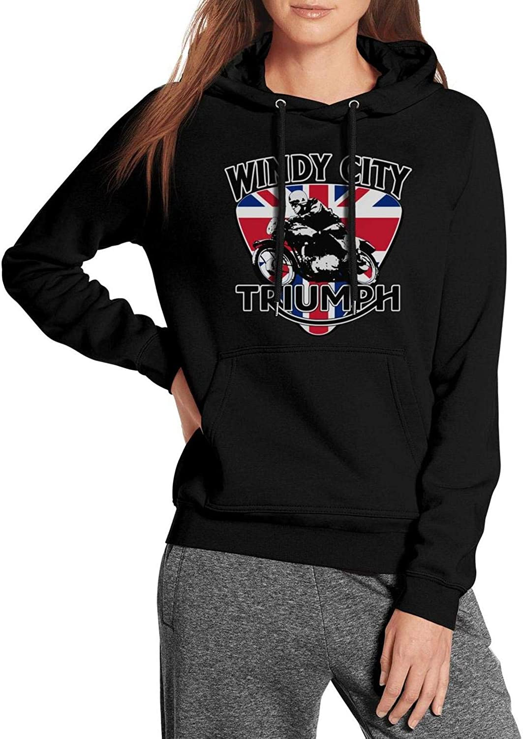 Windy City Triumph Logo Sweatshirts for Womens Active Pullover Loose Pullover Hoodie