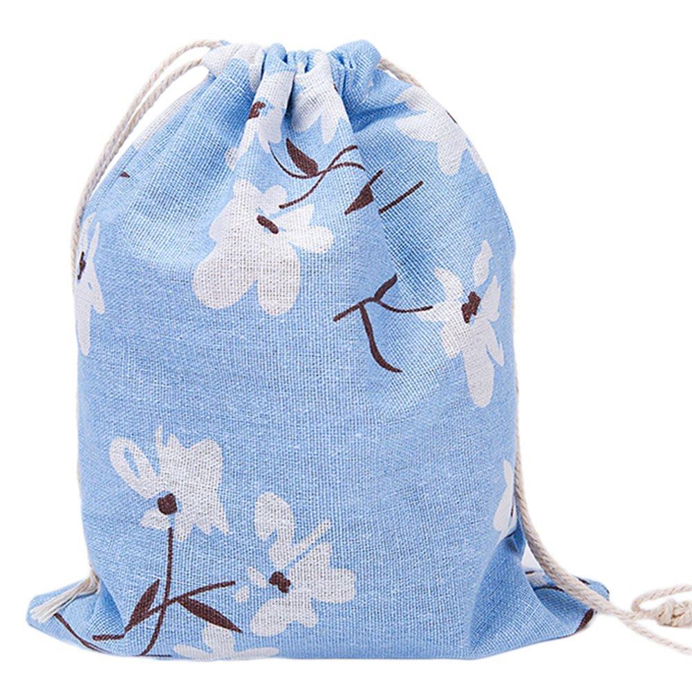 Westeng Sac cordons de serrage en lin Sac de Rangement Débris motif de Narcisse Sacs de Chaussures Organisateur Drawstring Sac pour Femme