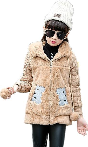 Amazon.com: Face Dream - Chaqueta de invierno para niñas con ...