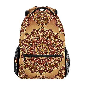 TIZORAX Mochila medieval hippie bohemio psicodélica mochila escolar bolsa de libros senderismo viaje mochila: Amazon.es: Deportes y aire libre