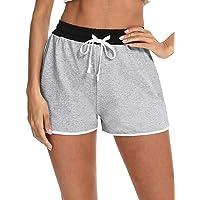 Doaraha Pantalones Cortos Mujer Deporte Algodón Cintura Elástica Ajustable Pantalon Deportivo Corto para Hacer Ejercicio…