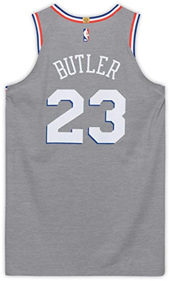 e047f7db6 Jimmy Butler Philadelphia 76ers Game-Used  23 Gray City Jersey from the  First Half of the ...