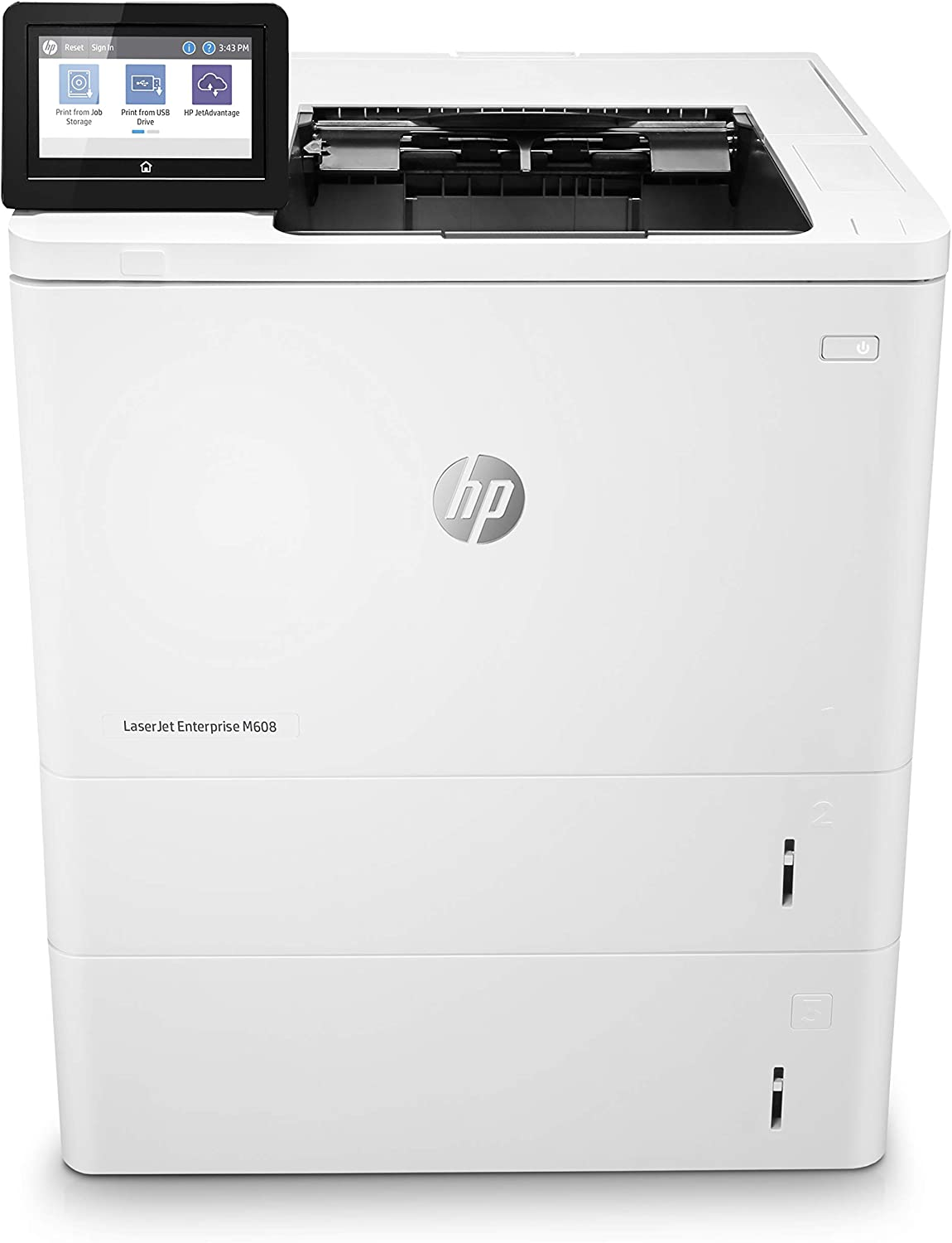 HP LaserJet Enterprise M608x Monochrome Duplex Printer with One-Year, Next-Business Day, Onsite -Warranty and Extra Paper Tray (K0Q19A)