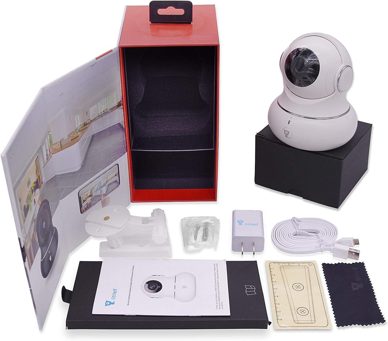 Littlelf Ip Kamera 720p Full Hd Drahtlose Fernüberwachung 350 Panorama Und 105 Neigung Durch Anwendungen Gesteuert 3d Panoramakamera Fernüberwachung Für Babys Und Tiere Weiß Baumarkt