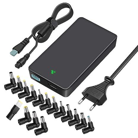 Outtag 90 W 15 V 16 V 18.5 V 19 V 20 V Cargador Adaptador para Ordenador Portátil bloque alimentación automático Cable para HP Dell Toshiba IBM Lenovo ...