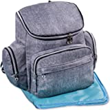 Baby Diaper Bag Backpack large w/ Stroller Straps insulated pocket, Changing Pad, waterproof, organizer, Gray