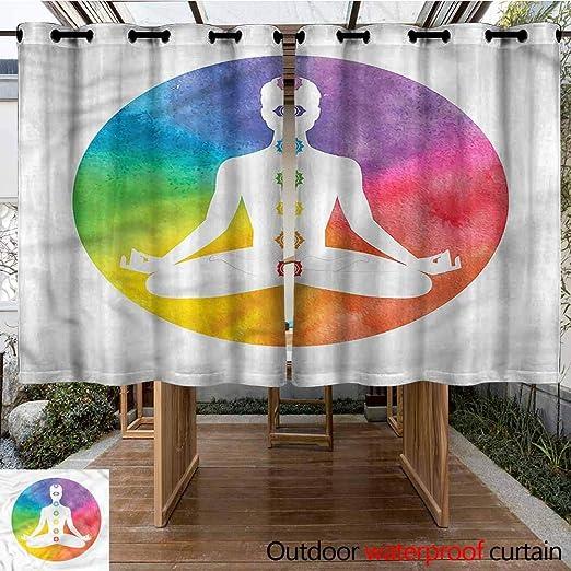 Sunnyhome Cortina de Puerta corredera con símbolo de Chakra Lotus ...