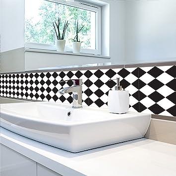 MIAORUI Einfache Stil Schwarz   Weiße Fliesen, Tapeten, Wand   Aufkleber,  Wohnzimmer,