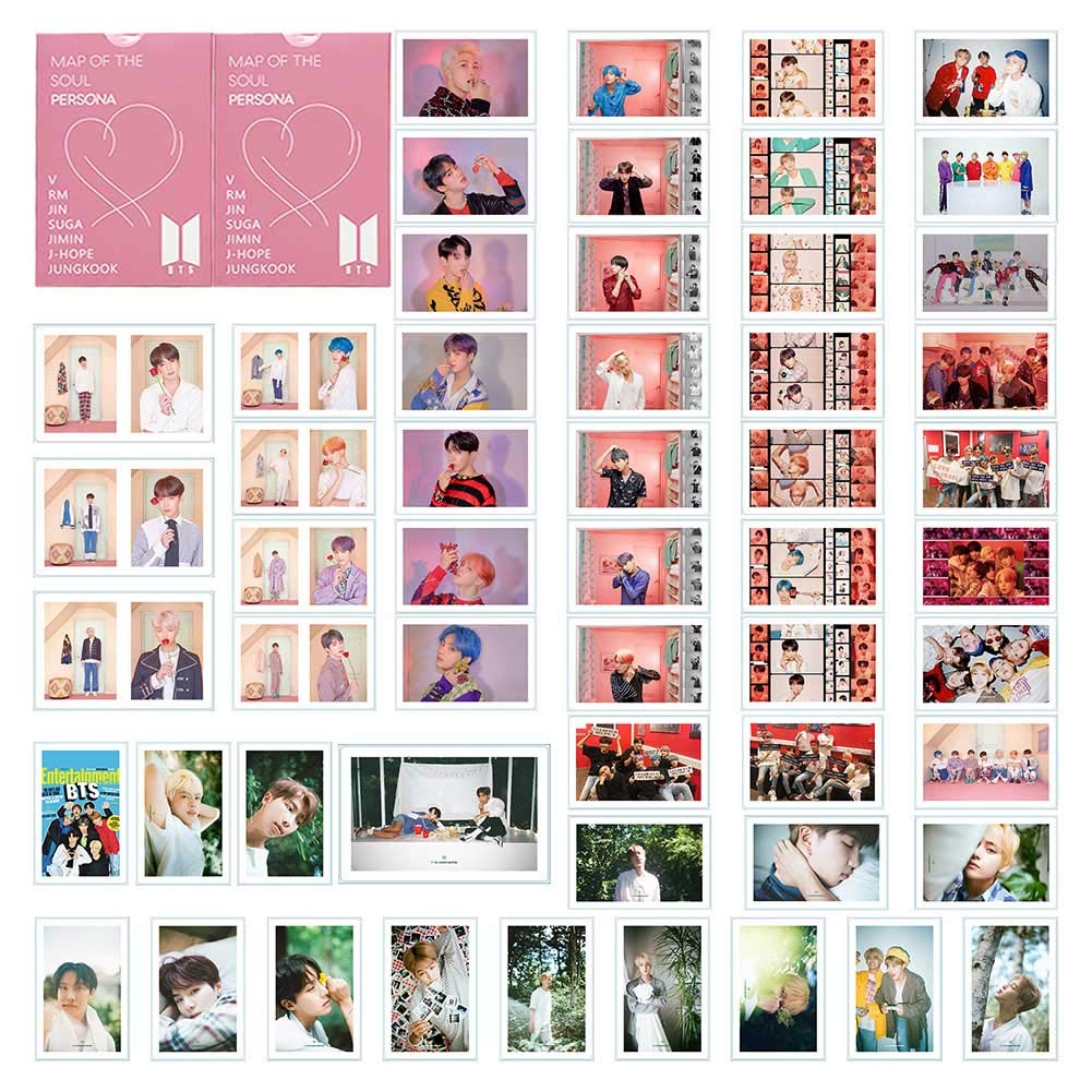 CAR-TOBBY New KPOP Bangtan Boys Love Yourself Answer Album Paper Photo Cards Autograph Photocard