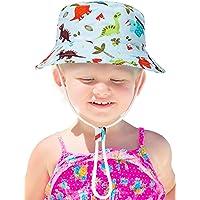 Sombrero de Cubo de Niños Sombrero de Protección Solar Gorra con Patrón Lindo Sombrero de Algodón de Visera para Vestido…