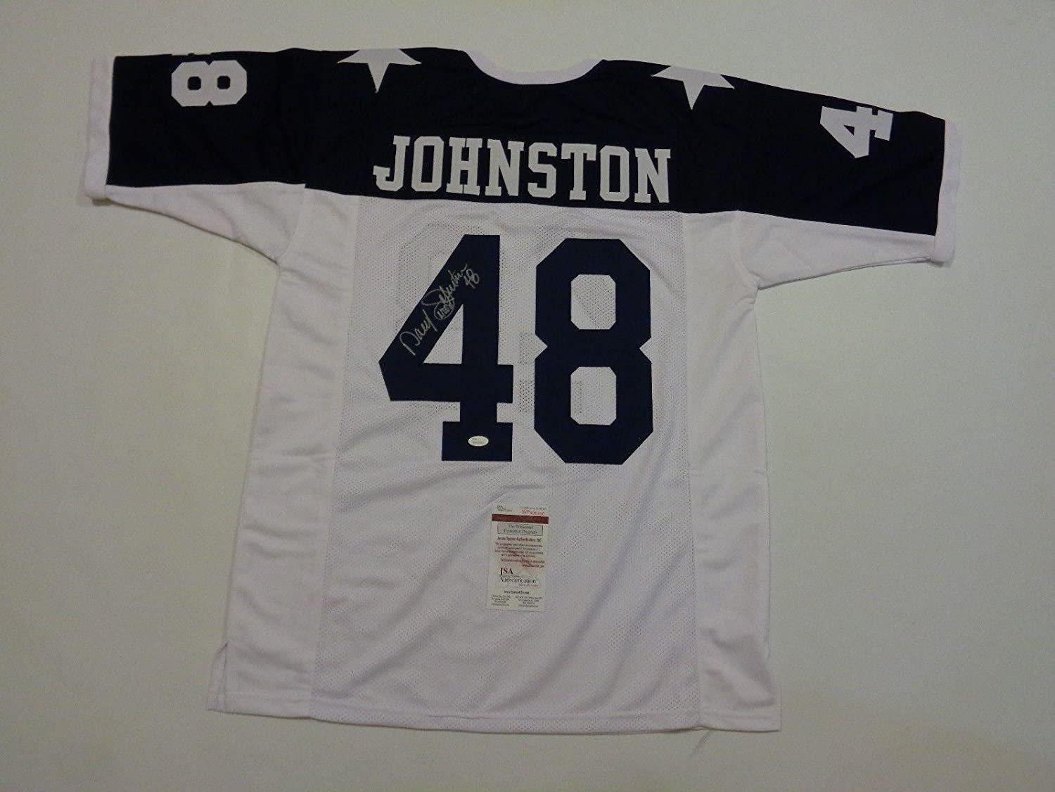 81b72f8ac low-cost Daryl Johnston Autographed Jersey - MOOSE white Thanksgiving  Witness - JSA Certified -