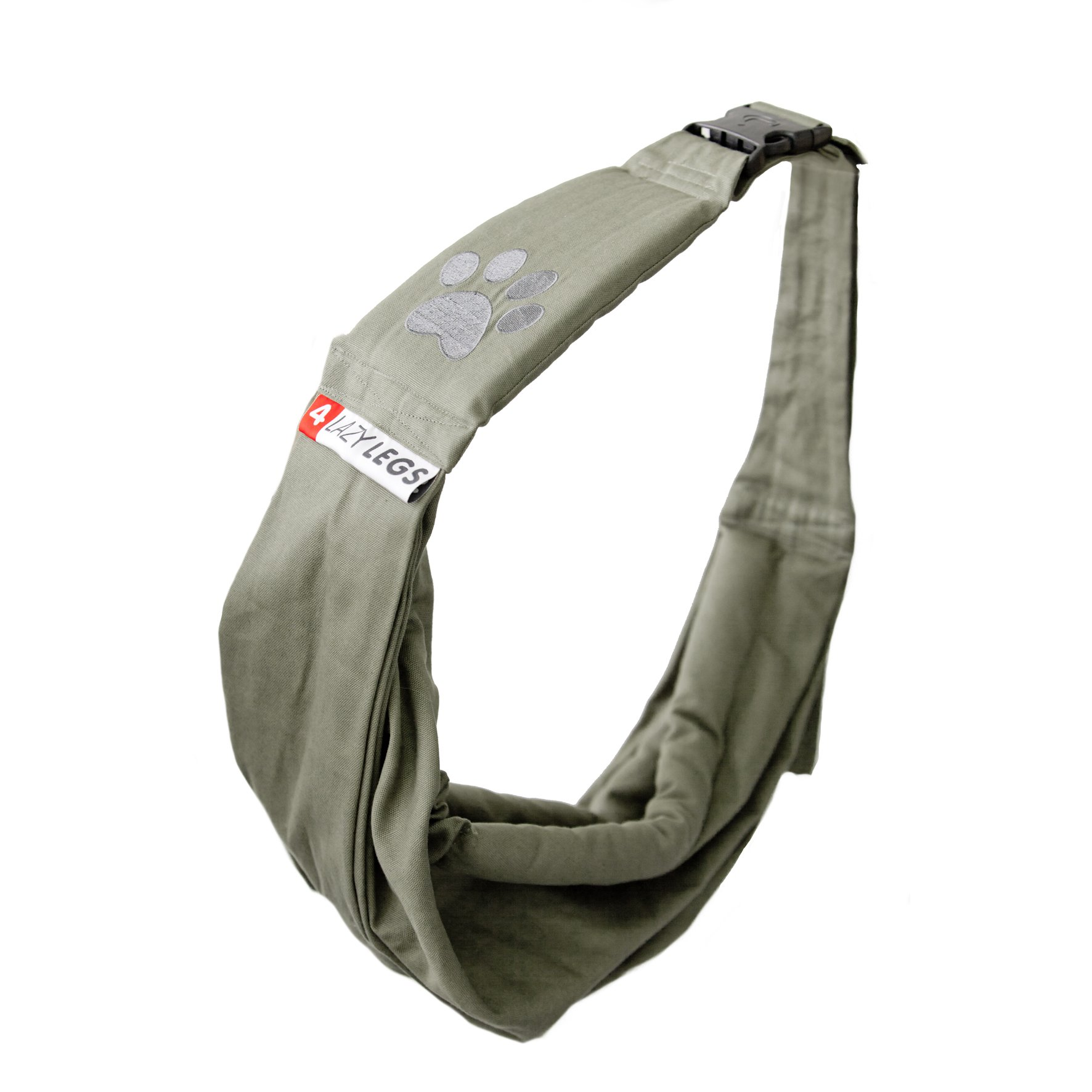4 Lazy Legs Adjustable Pet Sling Carrier, Carrier for Dog, Army Green