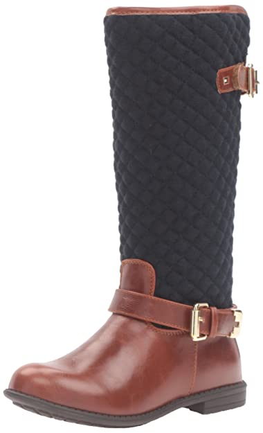 4167f882 Tommy Hilfiger Kids Andrea Equestrian Quilted Riding Boot (Toddler/Little  Kid/Big Kid