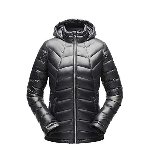 201305a0ee3 Amazon.com  SPYDER Women s Syrround Hoody Waterproof Down Jacket for Winter  Sports  Clothing
