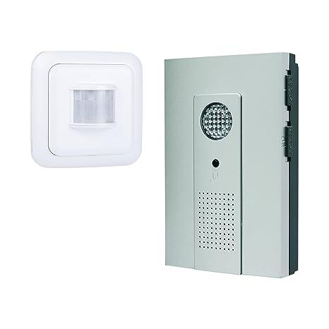 Kit de timbre de puerta inalámbrico Byron B33 – Detector de movimiento – Funciona con batería