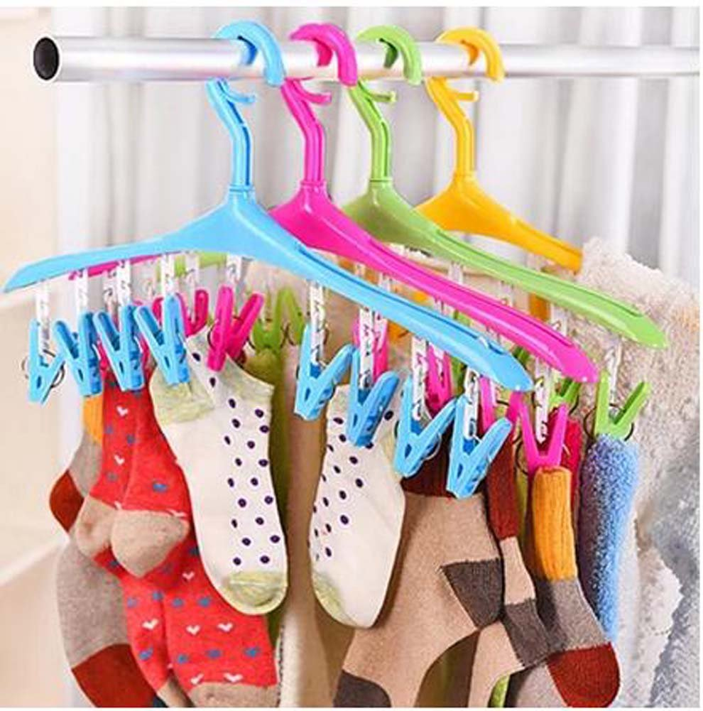 Socken Unterw/äsche Kleider Trockner Racks Plastikbekleidung Racks hellgr/ün