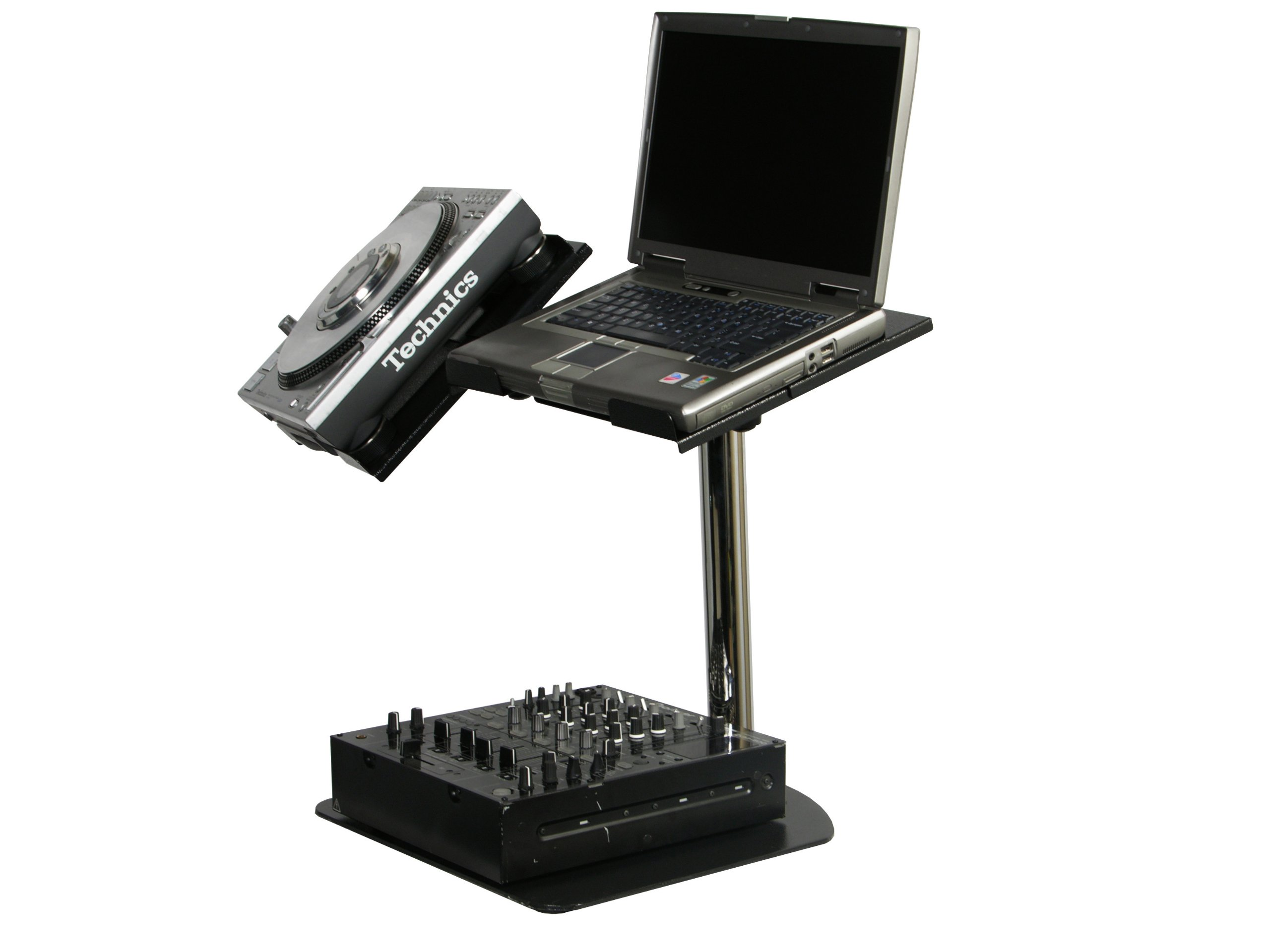 Odyssey LUNISPDB L-Evation Universal Laptop / Gear And Pioneer Cdj-100 Plate Stand With Double Arm Package by ODYSSEY (Image #2)