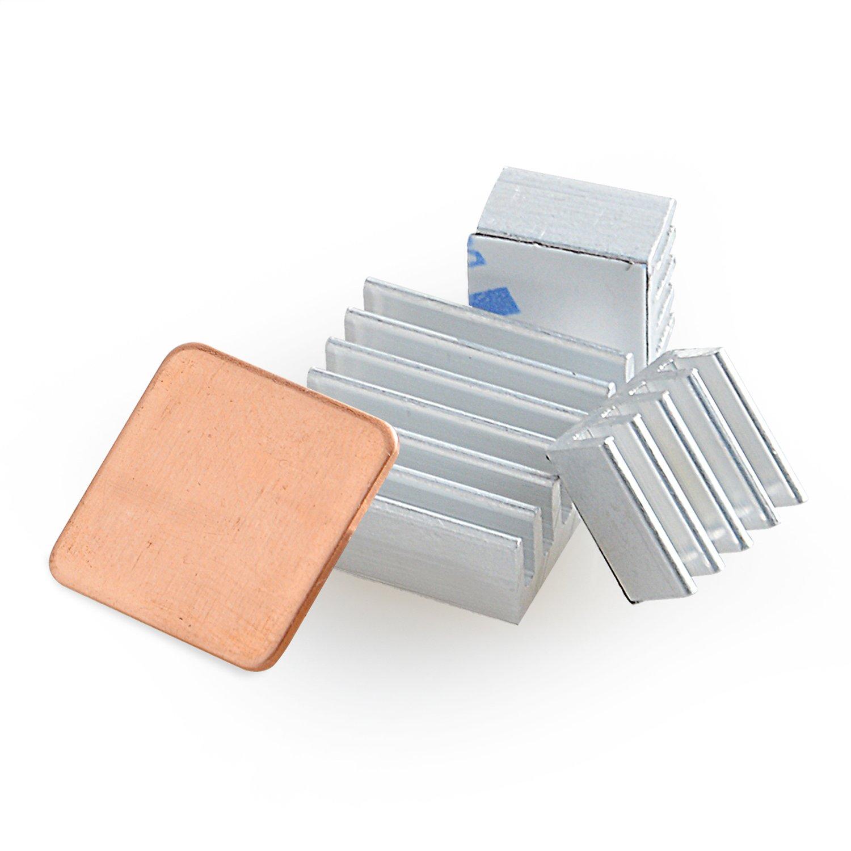 Aukru 3pcs 3 Set Dissipateurs en Aluminium Ensemble du Heatsink Thermique pour Raspberry Pi 3 Model B+/Pi 3 Model B/Pi 2 Model B et Pi B+