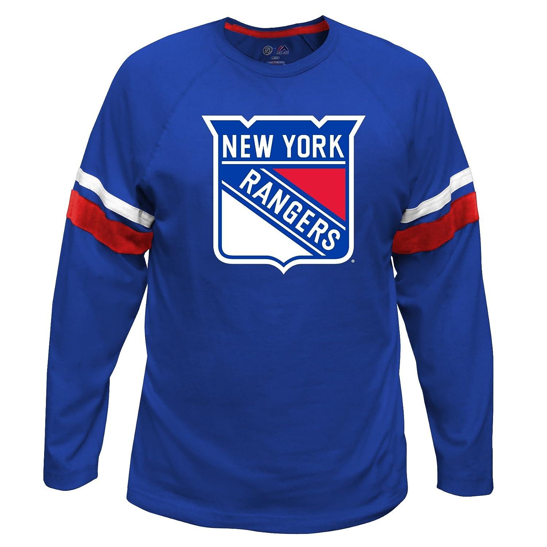 超特価激安 NHL York New York Rangers Long Sleeve Long Double Tee With Double Armストライプ、Large、ロイヤル B01E7LZ5NE, オケガワシ:73010c65 --- a0267596.xsph.ru