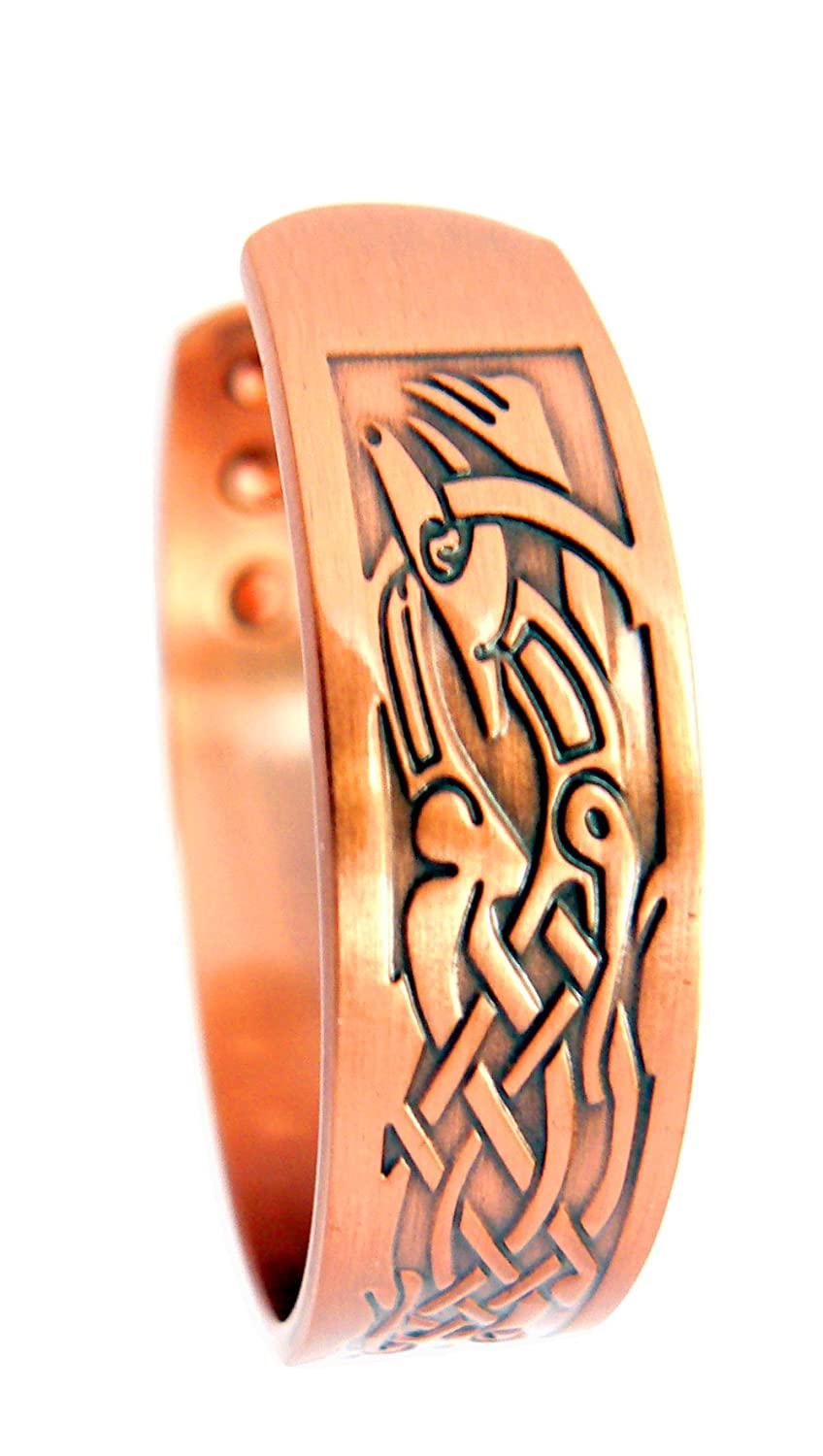 Sufferers wear copper jewelry in the hopes of easing symptoms - Magnetic Copper Arthritis Therapy Bracelet Traditional Celtic Design With 6 Magnets To Relieve Arthritis For Men Or Women By Chain Relief Amazon Co Uk