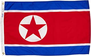 product image for Annin Flagmakers Model 221490 North Korea Flag Nylon SolarGuard NYL-Glo, 2x3 ft, 100% Made in USA to Official United Nations Design Specifications