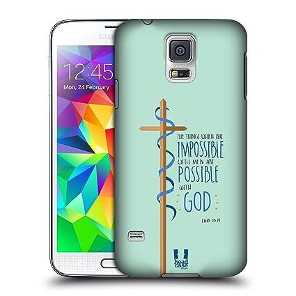 Amazon.com: Head Case Designs Possible Verse In Cross Hard ...