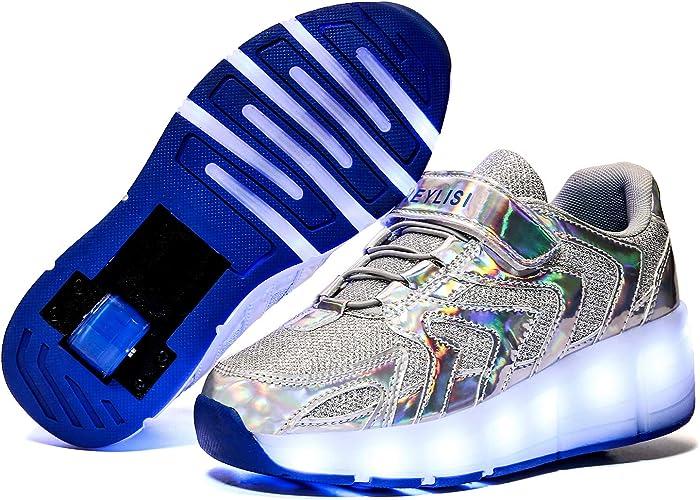 Chaussures /à roulettes Multicolore LED Chaussures Baskets pour Gar/çons et Filles Enfants Lumineuse avec Roue Chaussures de Sport