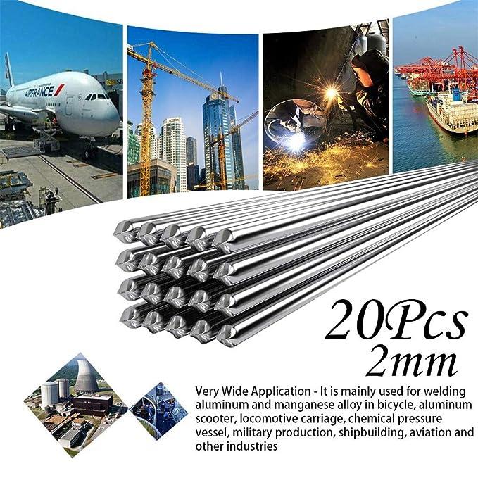 TianranRT 1,6 mm//2 mm Niedrig Temperatur Leicht Aluminium Schwei/ßen Stange Nein Bedarf L/öten Pulver 2mm,20Pcs