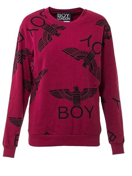 Boy London - Sudadera - para Mujer Violeta Burdeos: Amazon.es: Ropa y accesorios