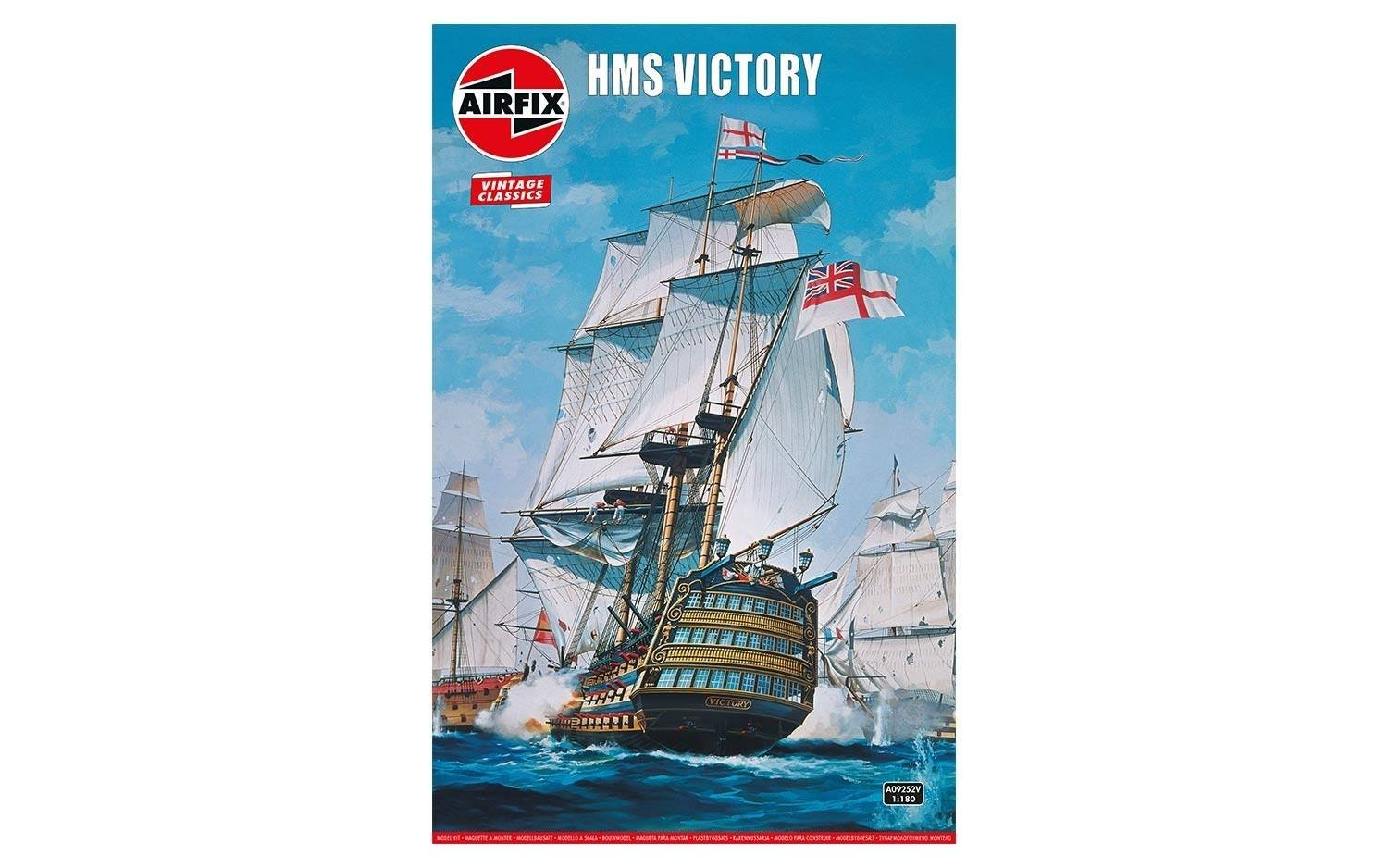Airfix Vintage Classics HMS Victory 1765 1:180 Military Royal Naval Ship Plastic Model Kit A09252V