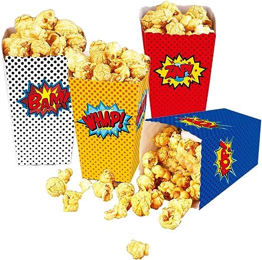 Amazon.com: 24 cajas de palomitas de maíz para fiestas de ...
