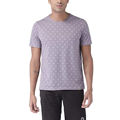 2Go Activewear Men's Printed Regular Fit T-Shirt: Clothing