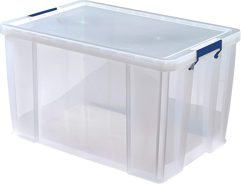 BANKERS BOX Prostore Plastic Storage Box - 85 Litre (Int. Dimensions 37.5 x 57.5 x 38 cm)