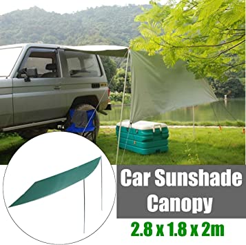 Xljh 2.8 x 1.8 m Sombrilla Carpa Coche Exterior Plegable Impermeable Camping Techo Tienda Superior Plegable Anti-UV Car Canopy Sun Shelter: Amazon.es: Deportes y aire libre