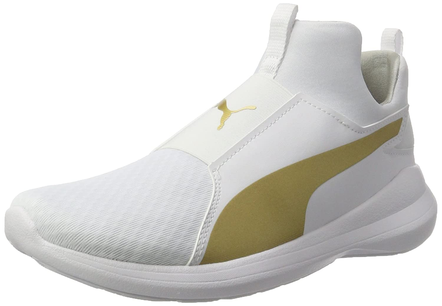 Puma Rebel Mid Wns, Zapatillas para Mujer 36 EU|Blanco (White-team Gold)