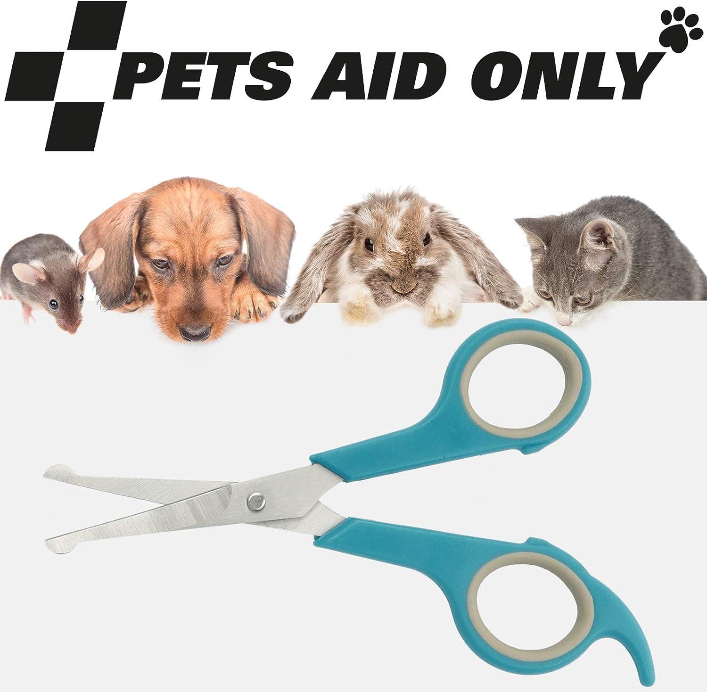 misura piccola lunghezza totale 14,8 cm Pets Aid Only PAO-10003 lunghezza lama 5,1 cm punta arrotondata Forbici per pelo