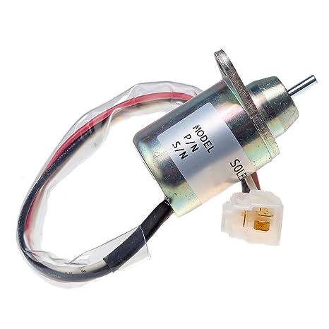 fuel shut off solenoid m806808 for john deere 3009 3011 3012 3014 3015 4019  4x2 6x4