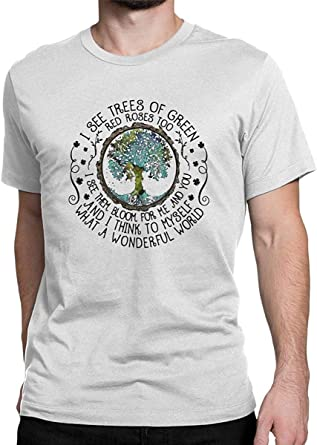Bigtige I See Trees of Green Red Roses Too I See Them Bloo T Shirt Hippie Tops Tees para Hombres: Amazon.es: Ropa y accesorios