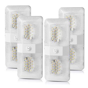 Amazon.com: SS VISION 4 Pack LED RV Lámpara de Techo, Doble ...