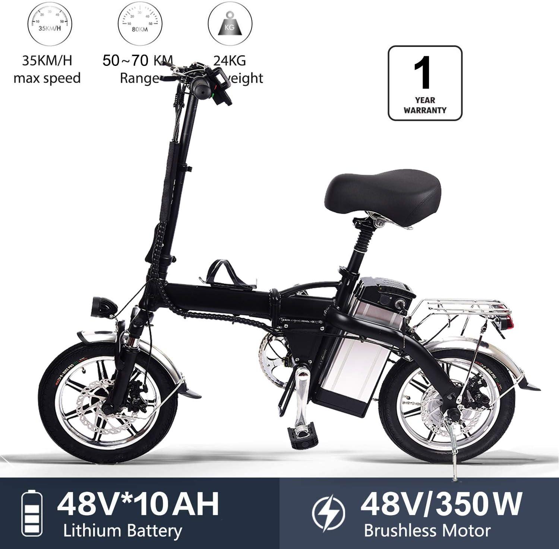 Lamtwheel Bicicleta eléctrica Plegable Ruedas de 14