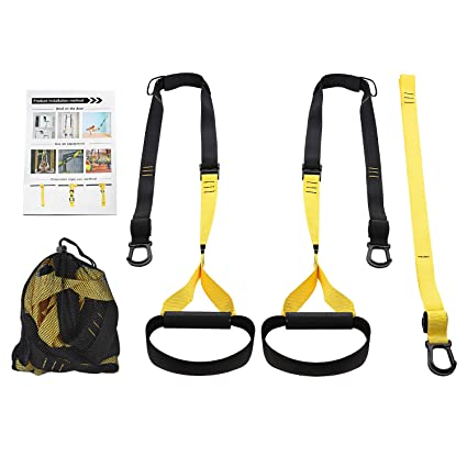 7d0c23327b Amazon.com   Eerest Full Body Bodyweight Resistance Trainer Kit with Three  Anchor Solution for Exercise Home and Outside   Sports   Outdoors