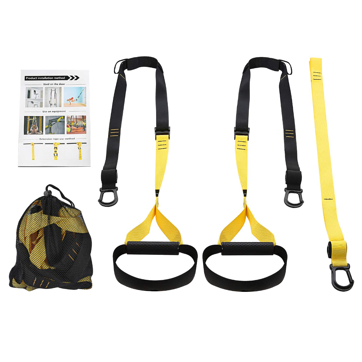Eerest Full Body Bodyweight Resistance Trainer Kit with Three Anchor Solution for Exercise Home and Outside