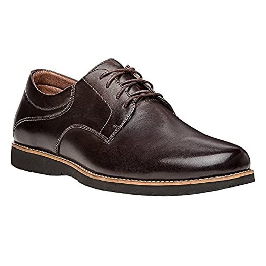 Propet Men's Grisham Shoe Chocolate 9.5 X (3E) & Oxy Cleaner Bundle