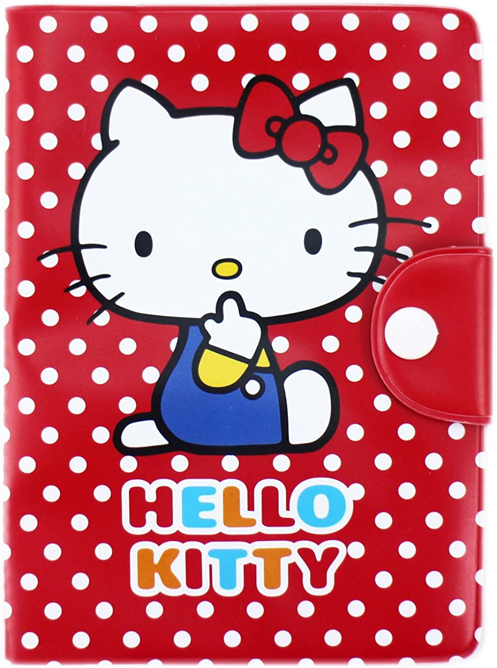 Hello Kitty Red and White Polka Dot Adorable Passport Cover//Holder