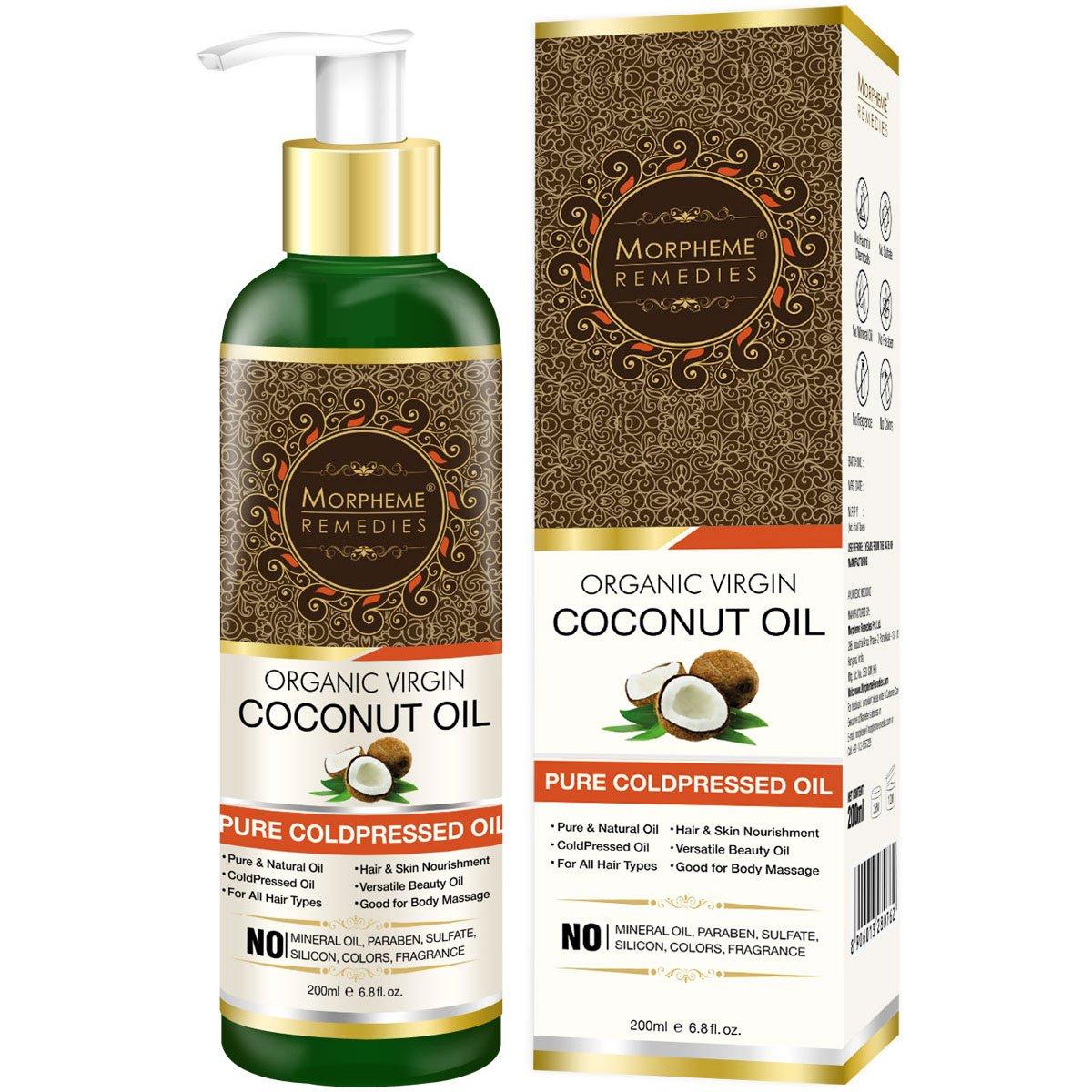 Morpheme Remedies Cold Pressed Organic Virgin Coconut Oil, 200ml product image