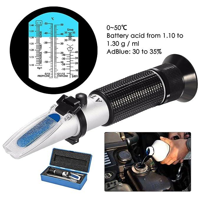 Trois-Couleur - Refractómetro para Tester líquido de anticongelante, gochange Professional - Refractómetro automóvil para anticongelante, líquido de lavado ...