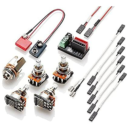 amazon com emg solderless wiring kit for 1 2 active pickups short rh amazon com EMG 81 85 Pickups Wiring-Diagram EMG Quick Connect Wiring Diagram