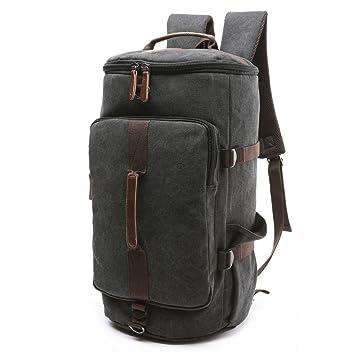 880e916d9b BAOSHA HB-26 3-Ways Vintage Canvas Men Holdall Weekend Travel Duffel Bag  Backpack