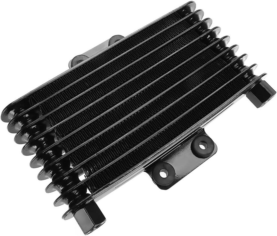 KIMISS 125ml Radiador de enfriamiento del enfriador de aceite del motor de Aluminio para 125CC-250CC Motocicleta Dirt Bike ATV(negro)