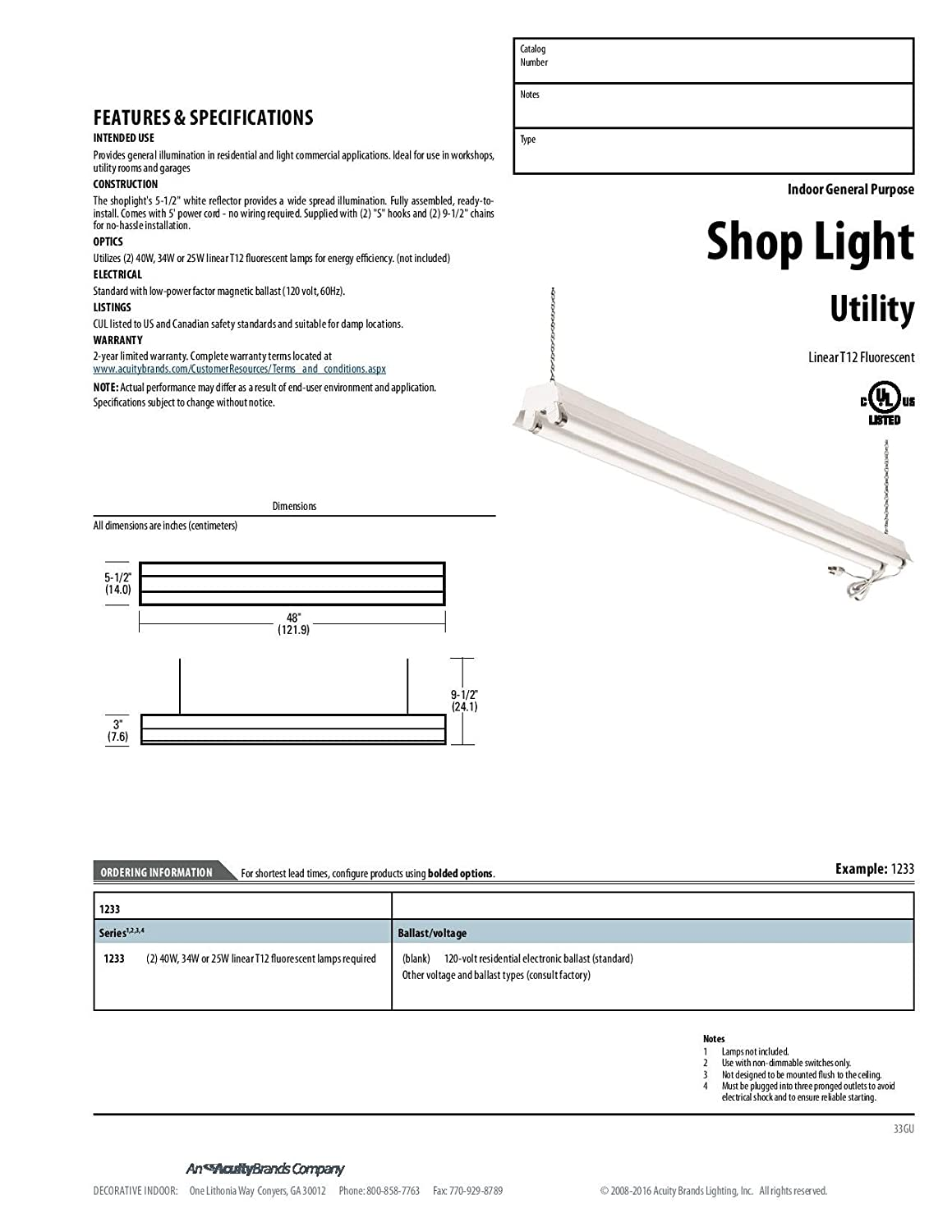 lithonia lighting 1233 re 2 light t8 fluorescent residential shop rh amazon com